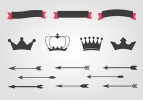 Free Crowns And Arrows Vector