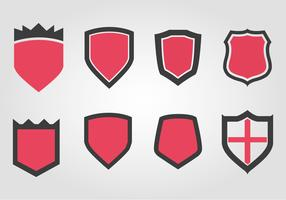 Free Wappen Shield Set Vector