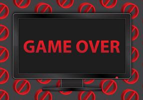 Free Game Over TV Vector