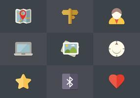 Free Flat Icon Set 05 Vector