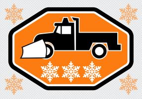 Free Snow Plow Truck Vector