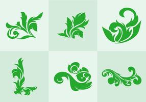 Green Acanthus Vector
