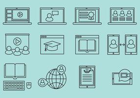 Webinar Line Icons
