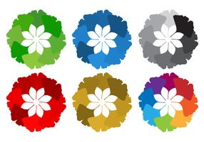 Vector de folhas de ginkgo redondas grátis