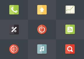 Free Flat Icon Set 06 Vector