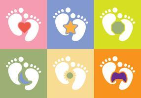 Free Baby Foot Vector