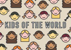 Kids of the World Vector Pattern