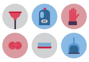 Flat Spring Cleaning Icons