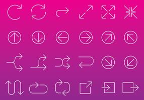 Line Arrow Icon Vectors