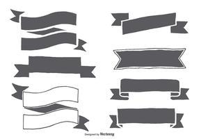 Hand Drawn Ribbon Shapes