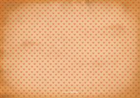 Old Shabby Heart Pattern Background