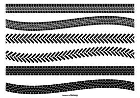 Tire Track Vector Shape Set