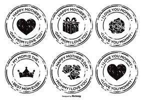 Mother's Day Grunge Badge Set