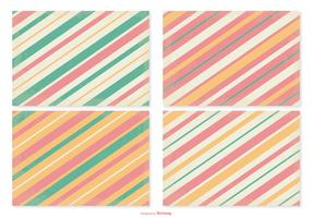 Retro Striped Pattern Set