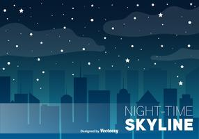Night Skyline Vector Background