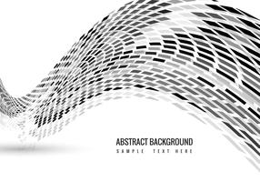 Vector Mosaic Wave background
