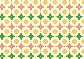 Floral Tile Pattern Background