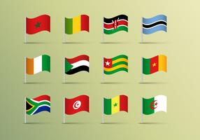 Africa Flags Vector Free