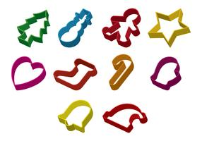 Set Of Cookie Cutter Vector