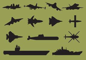 Aircraft Carrier Silhouettes