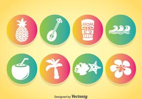 Hawaii Element Icons Vector