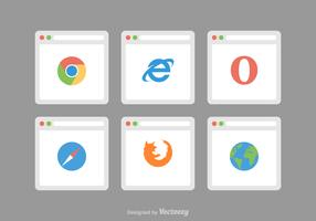 Free Web Browser Vector Icons