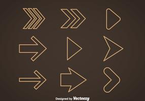Outline Arrow Vector