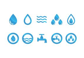 Flat Water Icon Vector Set