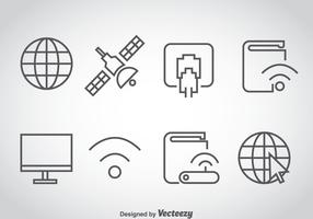 Internet Outline Icons Vector