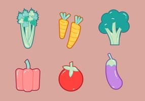 Free Celery and Vegetables Vector Graphic 1