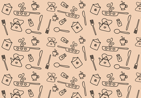Free Kitchen Pattern Vector
