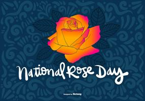 NATIONAL ROSE DAY Vector