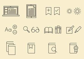 E Reader Icons