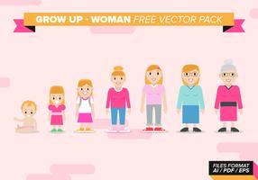 Grow Up Woman Free Vector Pack