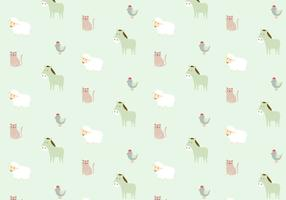 Farm Animals Pattern Background