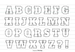 Cute Sketchy Style Alphabet Set