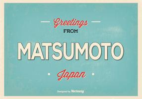 Matsumoto Japan Greeting Illustration