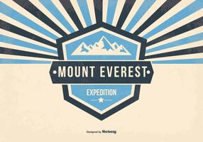 Mount Everest Retro Illustration