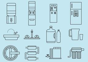 Drinking Water Icons