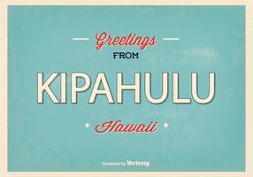 Kipahulu Hawaii Retro Greeting Illustration