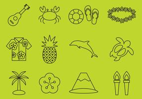 Hawaiian Line Icons