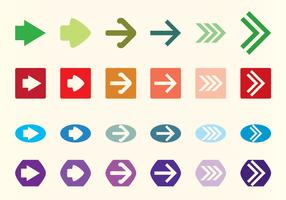 Vector Flechas Arrows Set