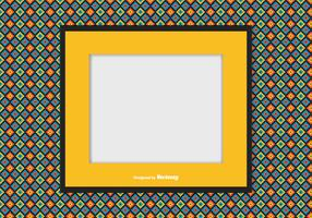 Picture frame on Colorful Background