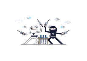Free Ninjas Vector