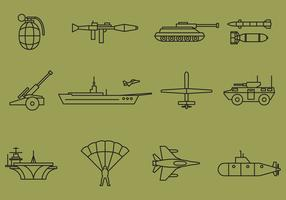 Vector War Line Icons