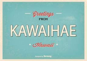 Retro Kawaihae Hawaii Greeting Illustration