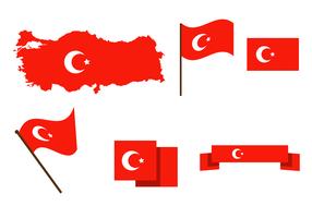 Vector de mapa de Turquia grátis