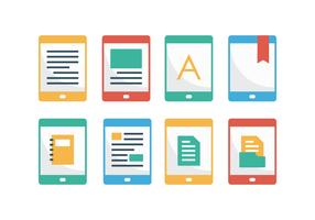 Free E-Reader Flat Icons