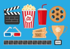 Free Pop Corn Box and Movie Cinema Vectors