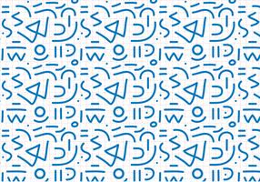 Blue Outline Abstract Pattern